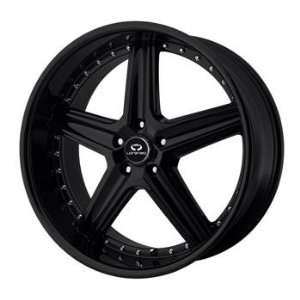 Lorenzo WL019 18x8 Black Wheel / Rim 5x120 with a 32mm Offset and a 74