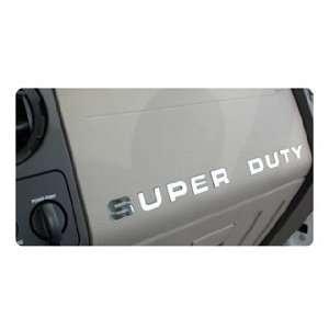 Ford Super Duty Dashboard Lettering Kit   Chrome