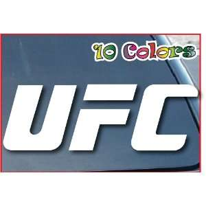 UFC Logo Car Window Decal Sticker 7 Wide White