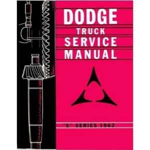 1962 DODGE PICKUP TRUCK Shop Service Manual Book