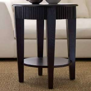 Living FR7010 0260 Morgan Round Tea End Table in Espresso FR7010 0260
