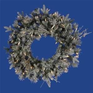 2 ft. Christmas Wreath   High Definition PE/PVC Needles