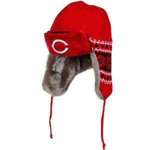 New Era Cincinnati Reds Red Black Team Trapper Beanie
