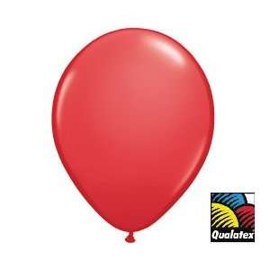 (12) RED 16 Latex Balloons High Quality Qualatex Brand