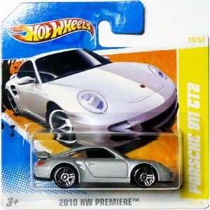 2010 Hot Wheels (Silver) PORSCHE 911 GT2 #15/214, HW Premiere #15/52