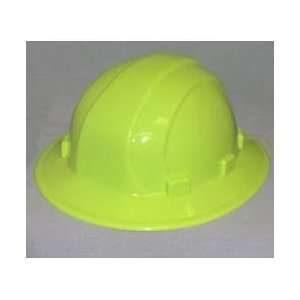 Hi Viz Yellow Hard Hat   Omega II Full Brim Sidelock STD