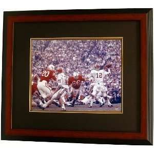 Ken Stabler Autographed/Hand Signed Alabama Crimson Tide 16x20 Color