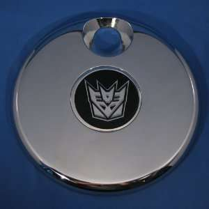 Chrome Aluminum Rear Emblem Badge with Transformers Decepticons Logo