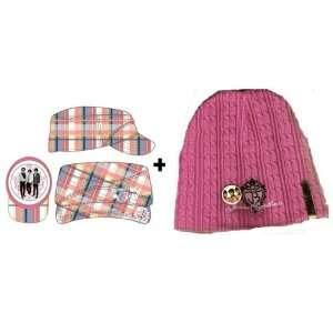 Jonas Brothers Disney Move Hat Set   Pink Plaid Cadet Hat