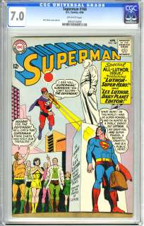 SUPERMAN #168 (1964) CGC FN/VF 7.0 OW Pgs CURT SWAN