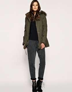 Mango Faux Fur Lined Hooded Parka Coat 10 M New £120