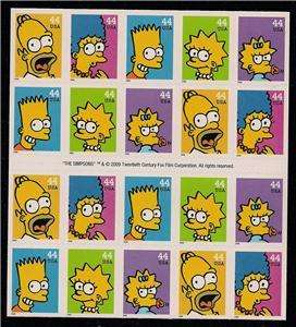 Simpsons Stamps Homer Bart Lisa Marge Simpson 4399 4403