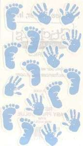 Frances Meyer Newborn Blue Baby Boy Blue Foot Prints Announcement