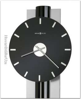 625403 Howard Miller Contemporary black glass face quartz wall clock