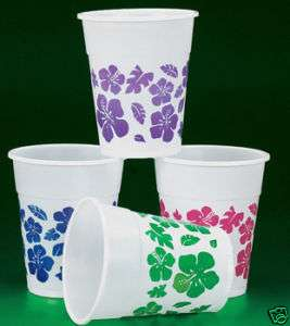 Mai Tai Flower Tiki Party/Luau Cups (50 pack)