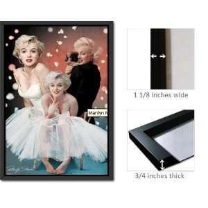 Framed Marilyn Monroe 3D Lenticular Illusion Poster