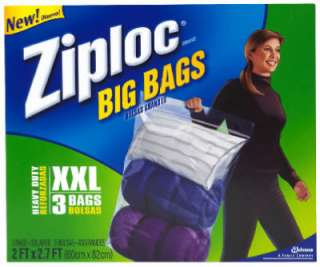 24 Pack Ziploc See Through Extra Extra Large Big Storage Bags