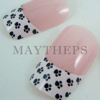 24 DESIGNER French Acrylic Nail Full Tips Series A
