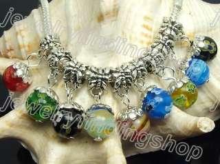 30 Mix style MILLEFIORI GLASS Fit charm Bracelet f0596