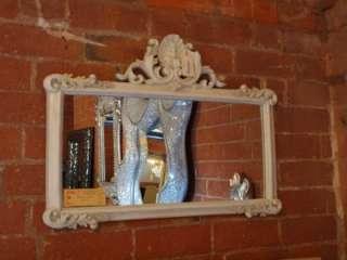 Wall Hanging Mirror Antique White Finish 70cmx52cm