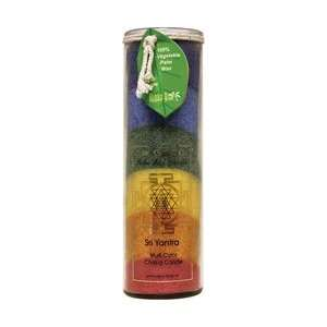 Palm Wax Candle, Sri Yantra, Multi Color Chakra Candle, 17