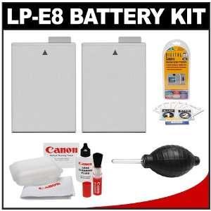 (2) Power2000 Spare LP E8 High Capacity Lithium Ion
