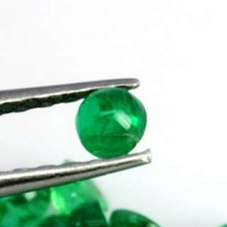 cts Natural Top Green Emerald Round Cab Lot Zambia loose gemstone high