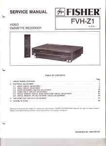 FISHER ORIGINAL SERVICE MANUAL FVH Z1 FREE USA SH