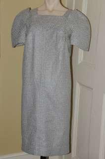 4300 11P NEW CHANEL Black White Fantasy Tweed w Smimmer SUIT DRESS 38