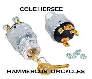 HERSEE STARTER RELAY IGNITION KEY SWITCH FOR HARLEYS CARS BOATS & MORE