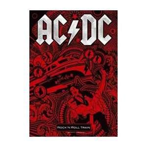 AC/DC Rock n Roll Train Fabric Music Poster