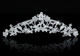 Bridal Bride / Flower Girl Crystal Tiara Comb T1264
