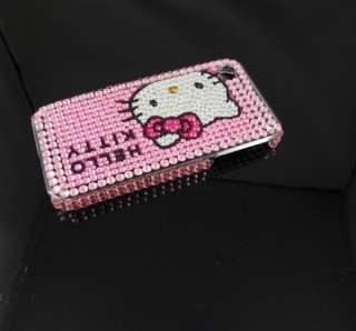 Bling Hello kitty Crystal Hard Back Cover case for Apple iPhone 4 4G