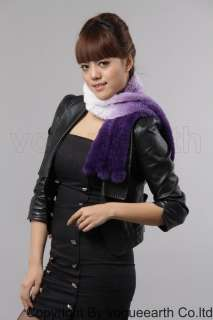 562 new real Rex rabbit fur 7 color scarf/shawl/wrap