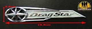 Chrome Silver Gas Tank Decal Badge Emblem for Yamaha DragStar