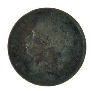 1854   Great Britain   Victoria   Penny 1d   Copper   Coin   5457