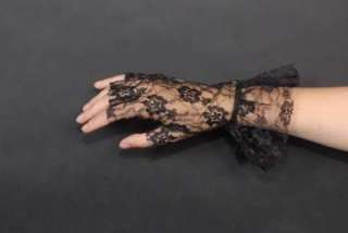 BLACK FINGERLESS LACE GLOVES FLAPPER/MADONNA/GOTH/PUNK