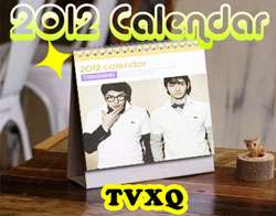 2012 DESK Calendar   JYJ,TVXQ,SNSD,Super Junior,U Kiss,Bigbang,KARA