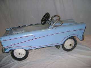 Vintage 1950s or 1960s Light Blue Murray Pedal Car Original Working