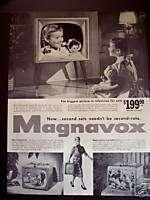 1956 Magnavox TV Television 3 models vintage ad