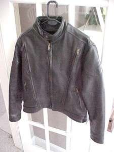 AWESOME Vintage 1980s * MENS size 46 LEATHER Motorcycle JACKET