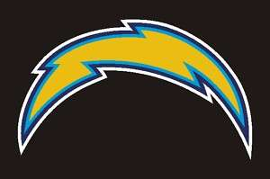 Diego Chargers Lightning Bolt Decal Sticker 10 1/2 x 6 #19r