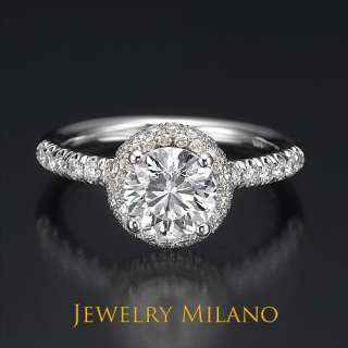 55 CARAT D SI REAL CERTIFIED DIAMOND ENGAGEMENT RING YELLOW GOLD 14K