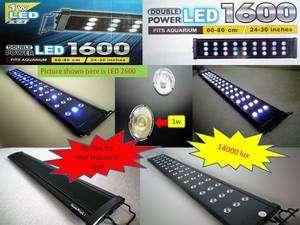 1600 LED light 24 30 inch 60 80cm coral reef marine planted aquarium