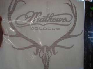 Mathews Solocam BIG deer skull XL decal 13.5x11.5 NEW