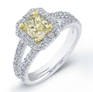 42 Ct. Yellow Canary Radiant Cut Diamond Ring