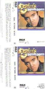 Elvis Presley 50 Years 50 Hits 1985 2 Cassette Set RARE