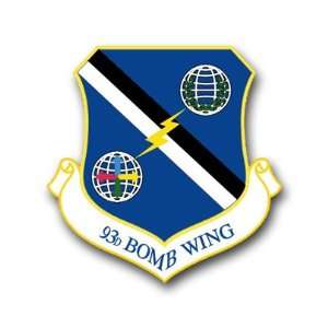 US Air Force 93rd Bomb Wing Decal Sticker 5.5 Everything