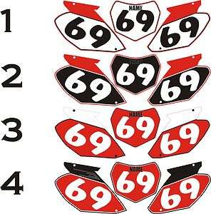 2002 2004 Honda CRF450 450 CR Number Plates Side Panels Graphics Decal