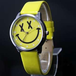 New Smile Face Girls Boys Kids Quartz Wrist Watch, BIB